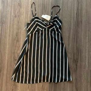 Row A Strip Knot Front Minidress